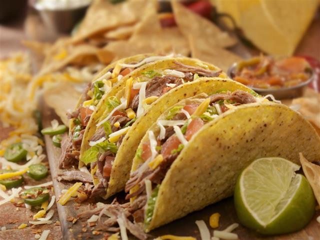 Hard Shredded Beef Tacos