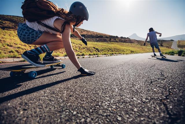 Longboarder Downhill