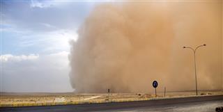Sandstorm in Jordan