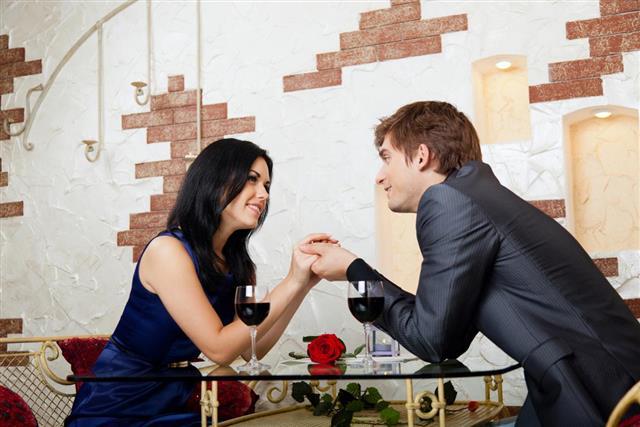 flirtatious couple