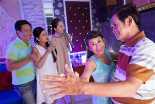 Dancing in karaoke