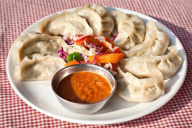 Vegetarian Nepalese momos