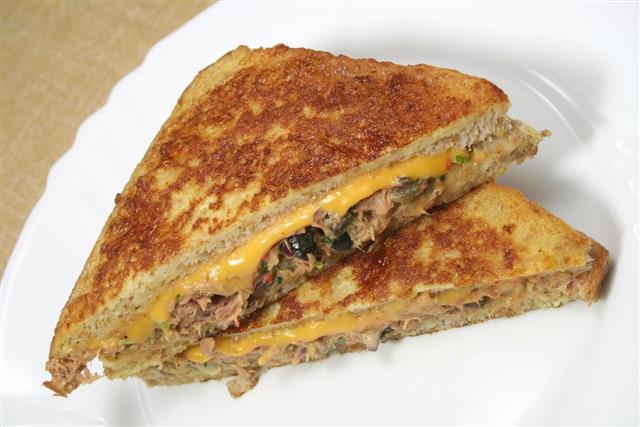 French toast Tuna melt