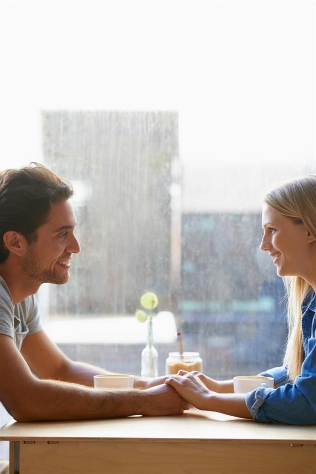 Enjoying a great first date