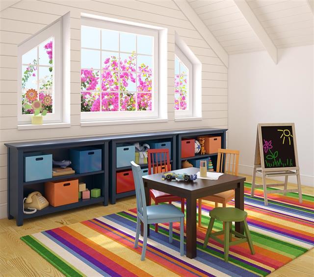 Interior of kids playroom