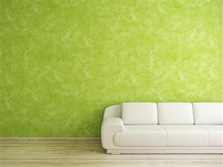 Venetian plaster green wall