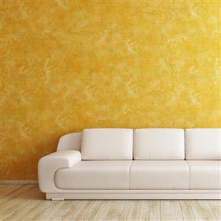 Venetian plaster orange wall