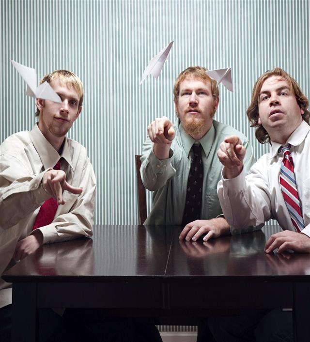 Playful Business Men