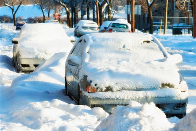 Snowbound Cars