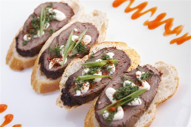 Beef Tenderloin Crostini