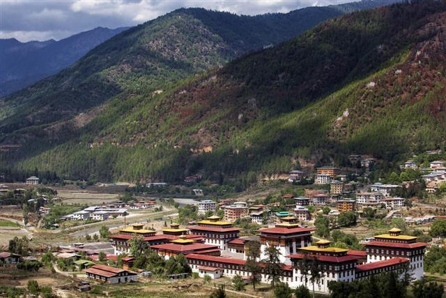 Landscape at Thimphu, Bhutan