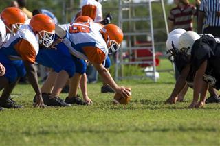 American Football Game Between Two Teams