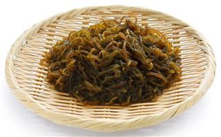 Japanese healthy and diet food, edible seaweed, mozuku