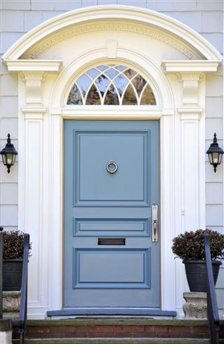 Colonial Blue Door