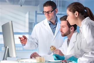 scientist doing analysis
