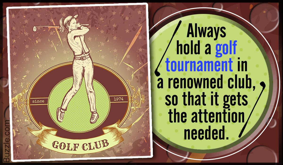 Golf Tournament Ideas