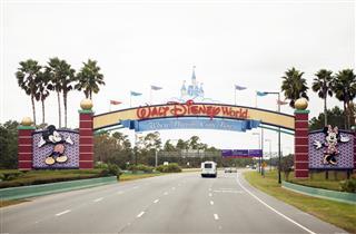 Walt Disney World Main Entrance in Orlando Florida