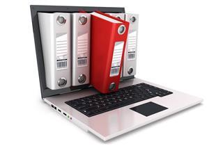 ring binder inside laptop