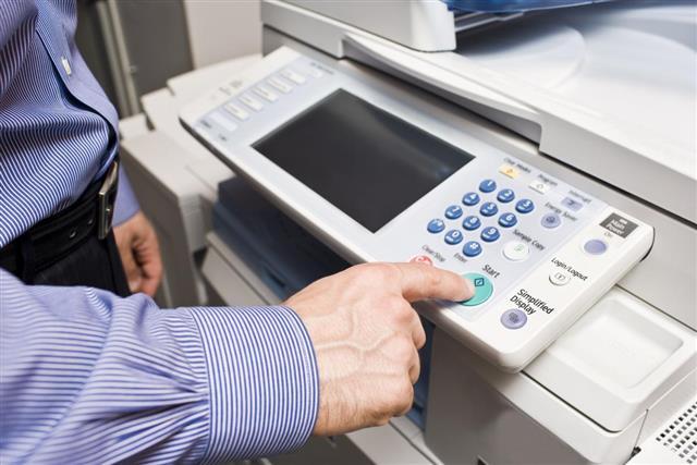 start button of photocopier