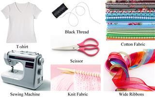 Pile of colorful cotton textile