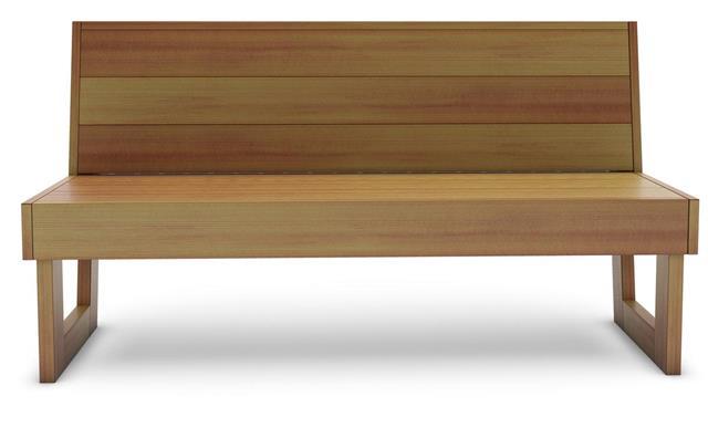 Wooden cedar bench