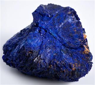 Azurite mineral rock