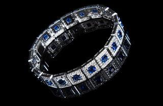 Luxury Bracelet with Blue Gemstones