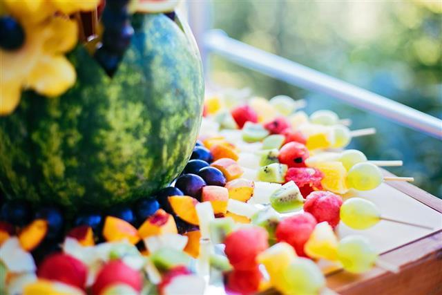 Fruit dessert outdoors