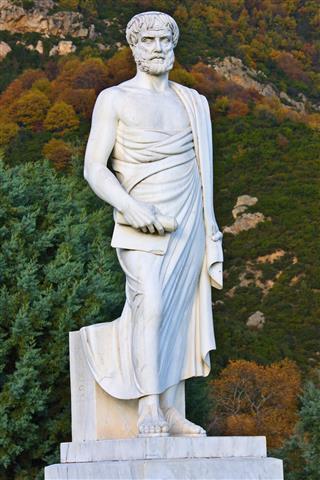 Aristotles statue