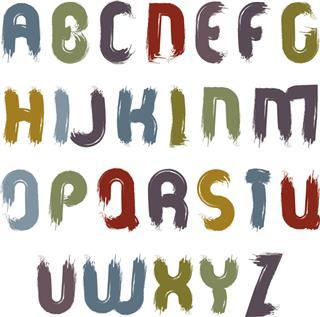 Vector alphabet letters set