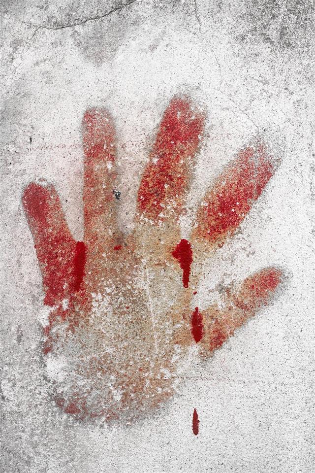 Imprint of blood