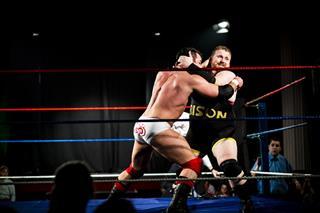Wrestlers in combat