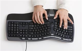 Typing on Ergonomic Keyboard