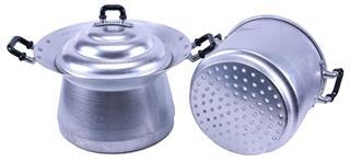 Aluminum steamer pan
