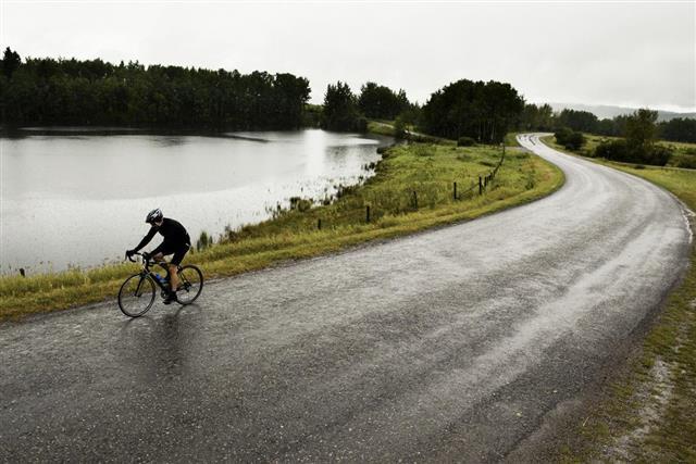 Rainy Day Road Ride