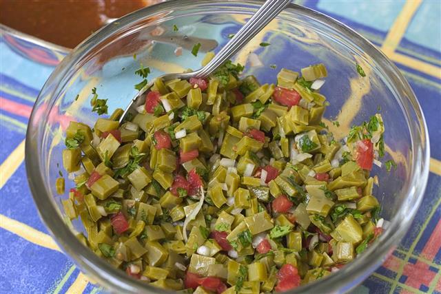 Nopales, cactus salad