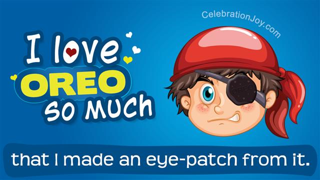 Oreo eye patch