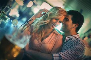 Flirting in a bar