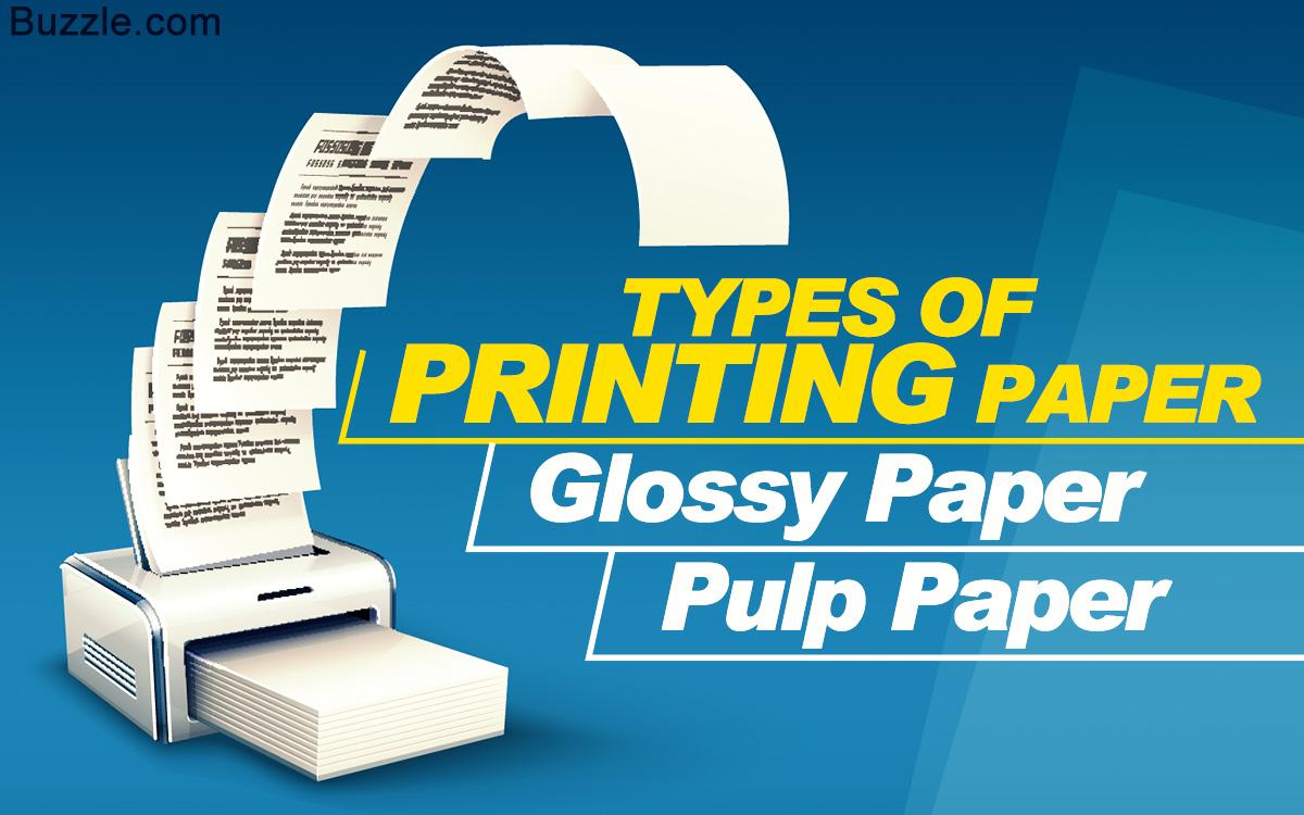 Printing Paper Types
