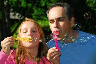 Father involving in daughter fun