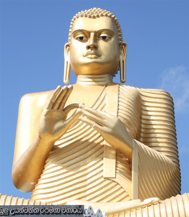 Golden Buddha Above Golden Temple
