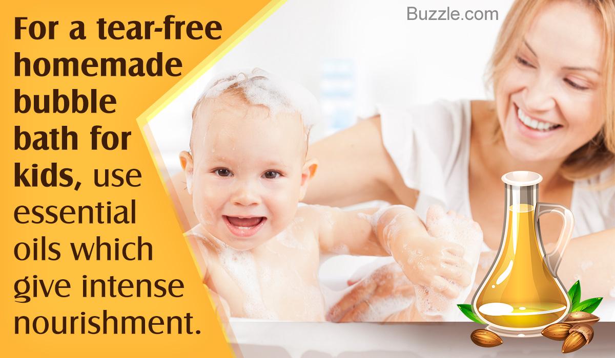 Homemade Bubble Bath for Kids