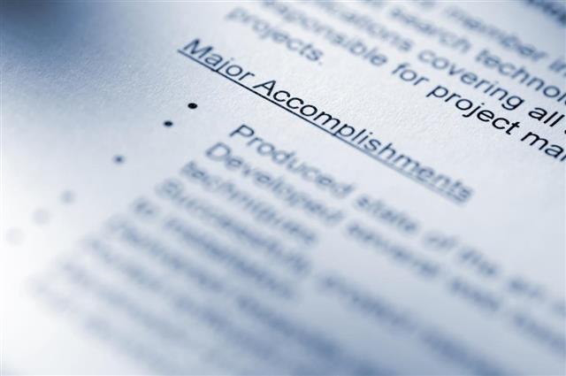 Resume Closeup