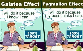 Galatea effect vs. Pygmalion effect