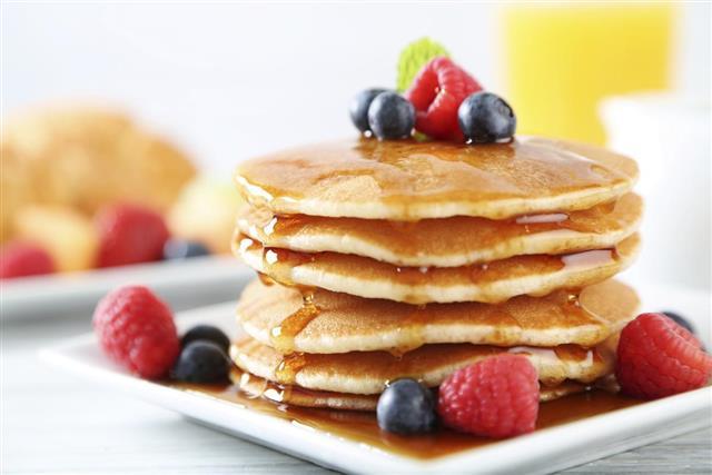 Pancake in breakfast