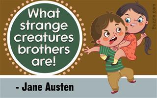 Jane Austen quote on brothers