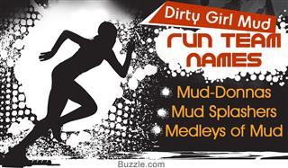 Team name ideas for Dirty Girl mud run