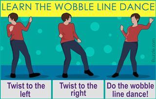 Steps of wobble line dance