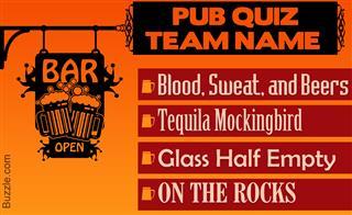 Pub quiz team name ideas