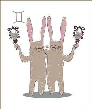 Rabbits zodiac Gemini